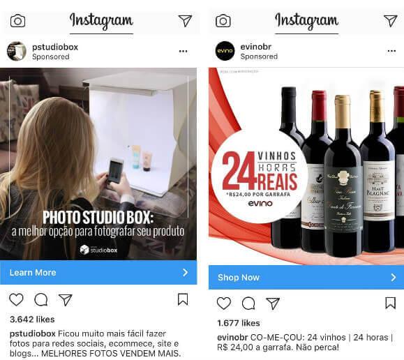exemplos anúncios patrocinados instagram